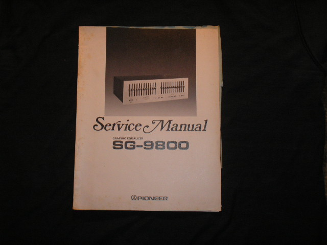 SG-9800 Graphic Equalizer Service Manual