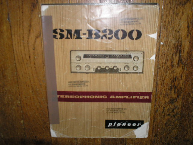SM-B200 Receiver Old Style Service Manual