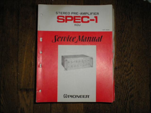 SPEC-1 Stereo Pre-Amplifier Service Manual     ART-142