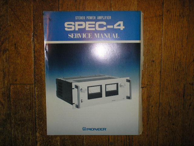 SPEC-4 Power Amplifier Service Manual