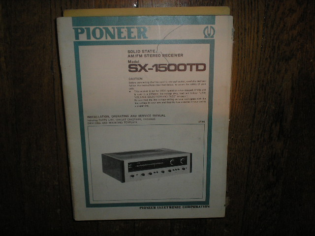 SX-1500TD FW Receiver Service Manual