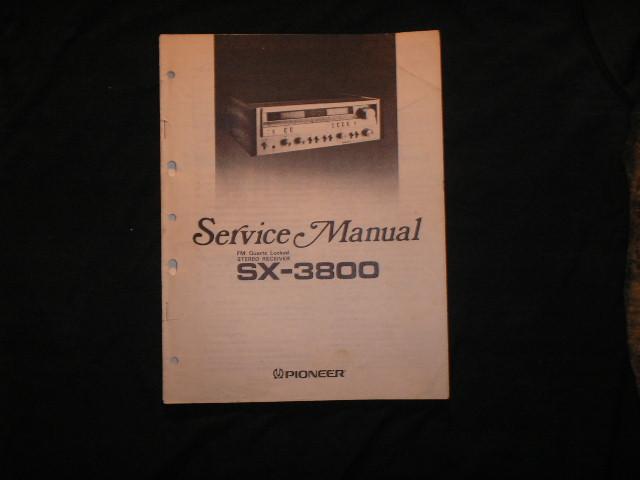 SX-3800 Receiver Service Manual