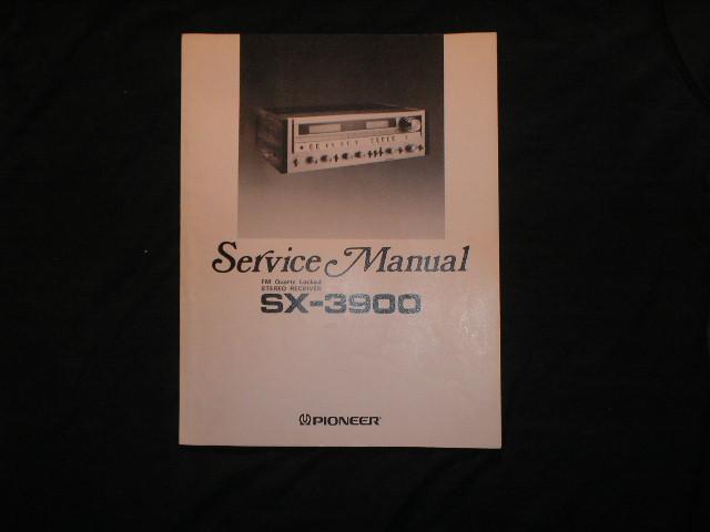 SX-3900 Receiver Service Manual