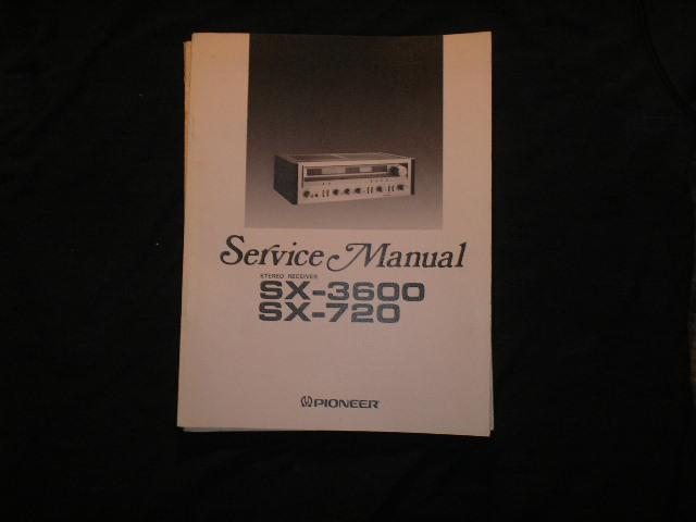 SX-720 SX-3600 Receiver Service Manual