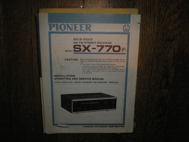 SX-770 SX-770F Receiver Service Manual