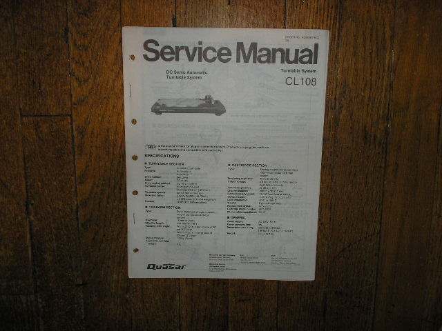 CL108 Turntable Service Manual