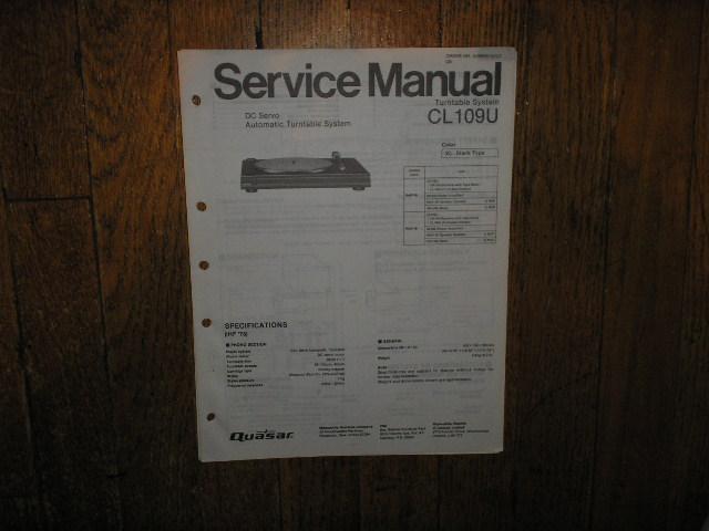CL109U Turntable Service Manual
