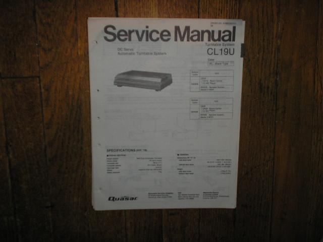 CL19U Turntable Service Manual