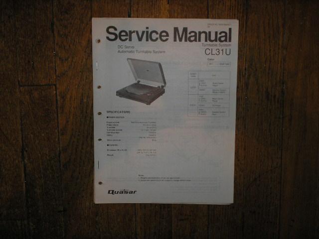 CL31U Turntable Service Manual