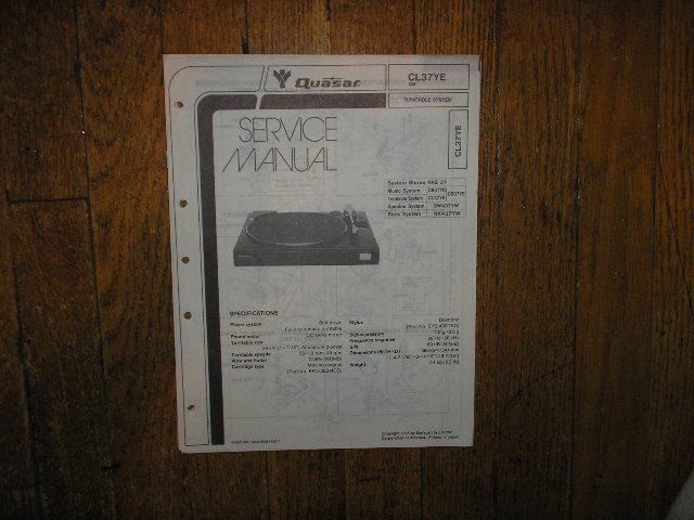 CL37YE Turntable Service Manual