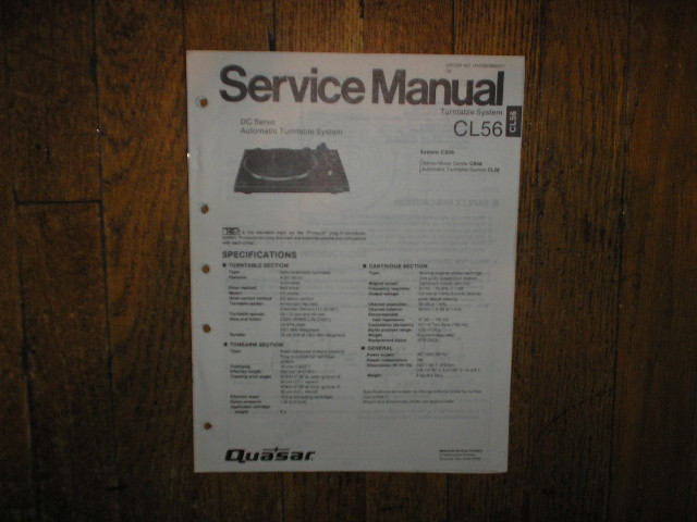 CL56 Turntable Service Manual