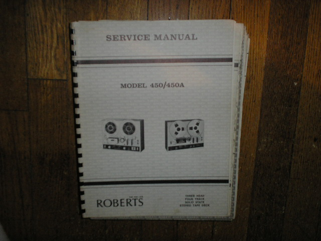 450 450A Stereo Reel to Reel Tape Deck Service Manual