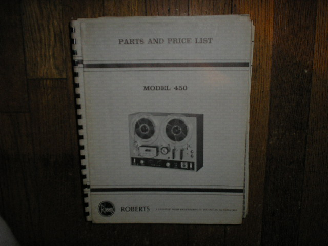 450 Stereo Reel to Reel Tape Deck Parts List