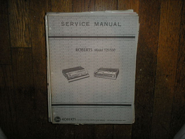 525 530 Stereo Cassette Tape Deck Service Manual