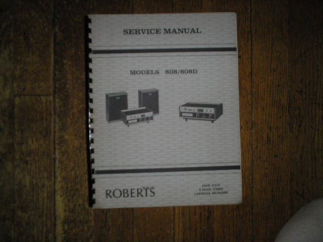 808 808D 8-Track Stereo Service Manual