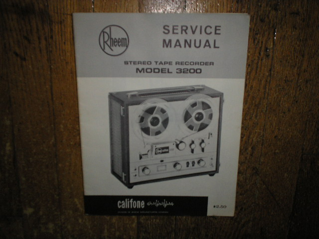 3200 Stereo Tape Deck Service Manual
