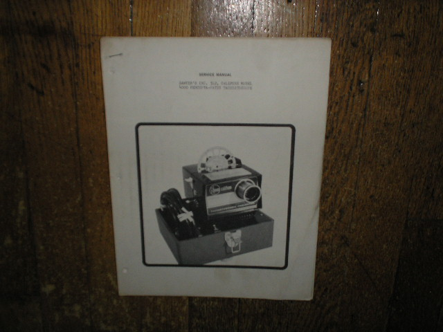 4000 Tachistoscope Projector Service Manual