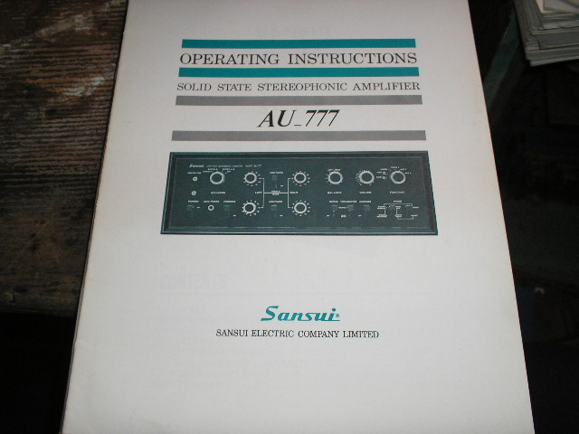 AU-777 Amplifier Operating Instruction Manual