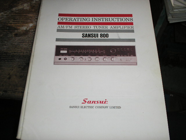 800 AM FM Tuner Amplifier Operating Instruction Manual