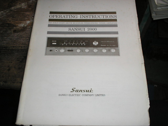 2000 AM FM Tuner Amplifier Operating Instruction Manual