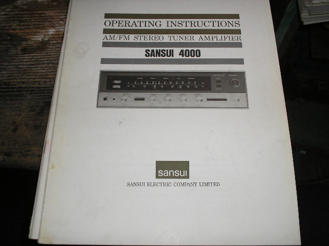 4000 AM FM Tuner Amplifier Operating Instruction Manual