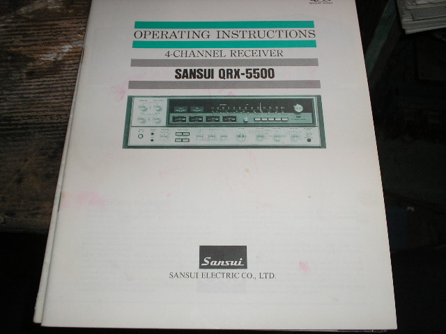 QRX-5500 Receiver Operating Instruction Manual