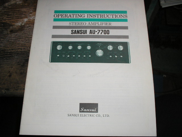 AU-7700 Amplifier Operating Instruction Manual