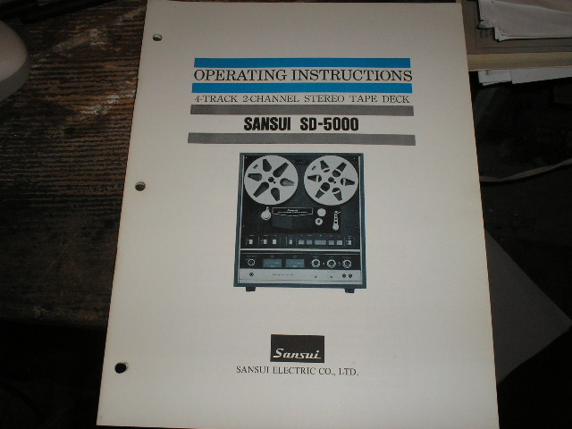 SD-5000 Reel To Reel Operator Manual
