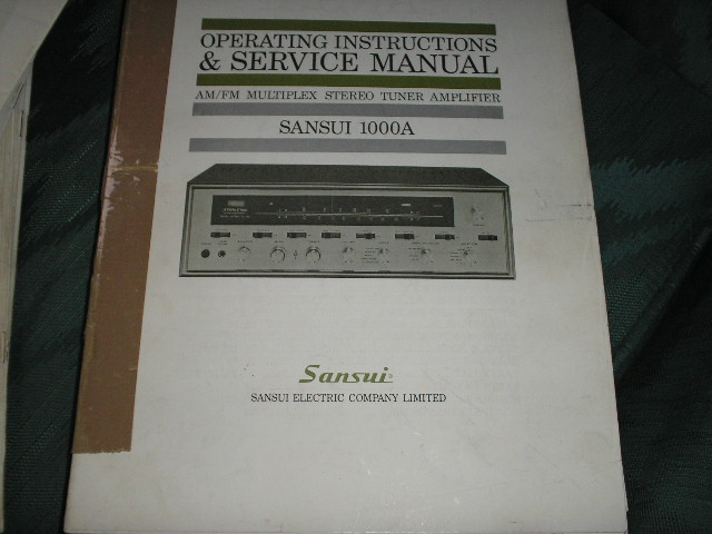 1000A Tuner-Amplifier Operating Instruction Manual