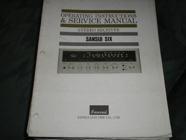 6 Six Receiver Operating Instruction Manual