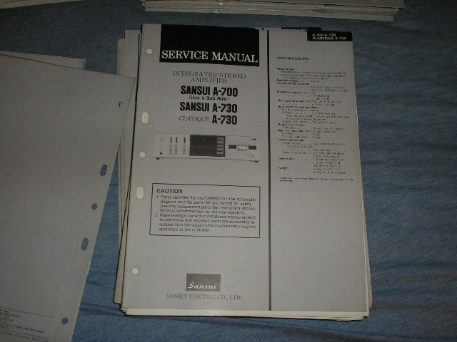 A-700 A-730 A-730 Classique Amplifier Service Manual