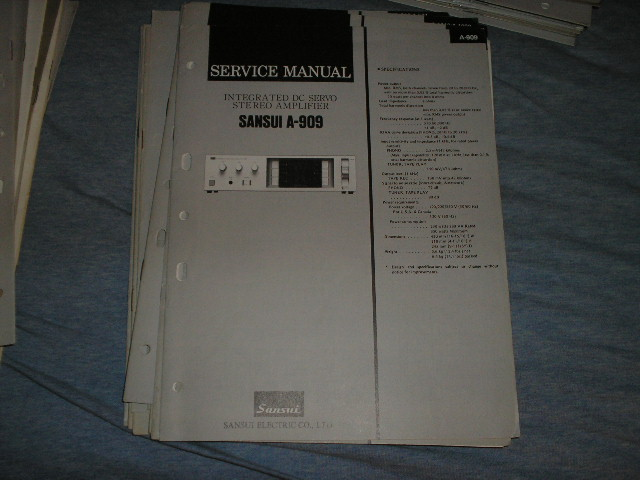 A-909 Amplifier Service Manual