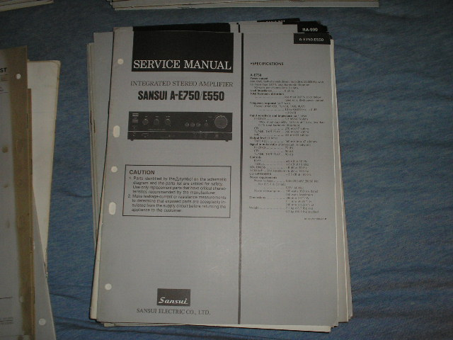 A-E550 A-E750 Amplifier Service Manual