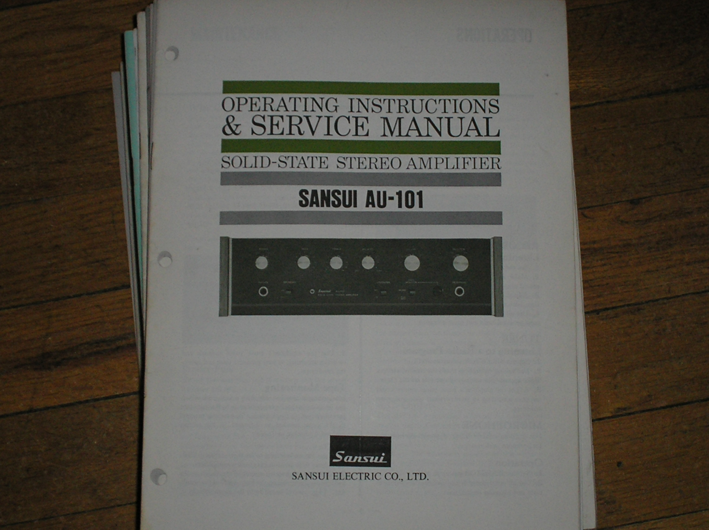 AU-101 Amplifier Operating Service Instruction Manual