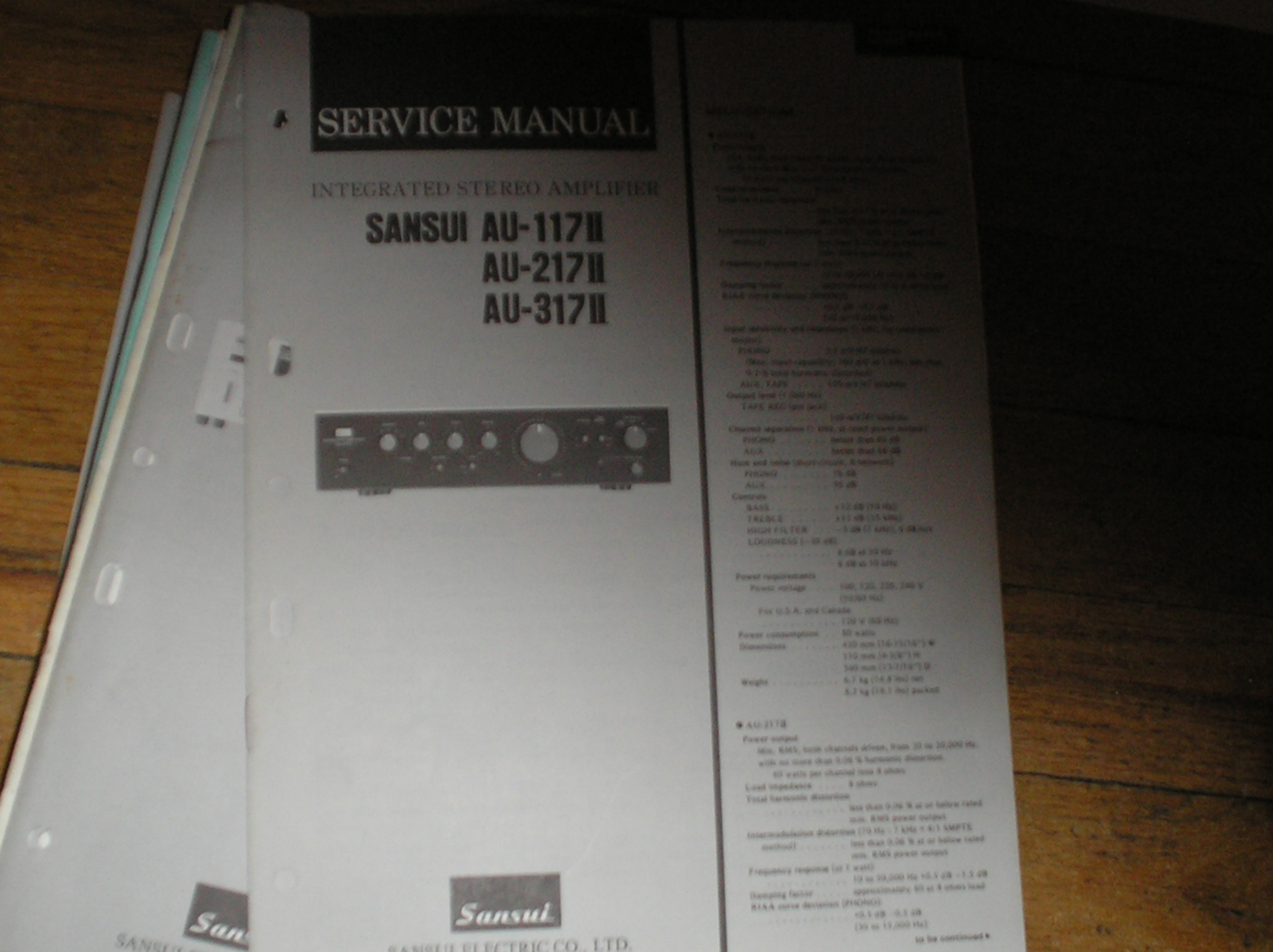 AU-117 II AU-217 II AU-317 II Amplifier Service Manual