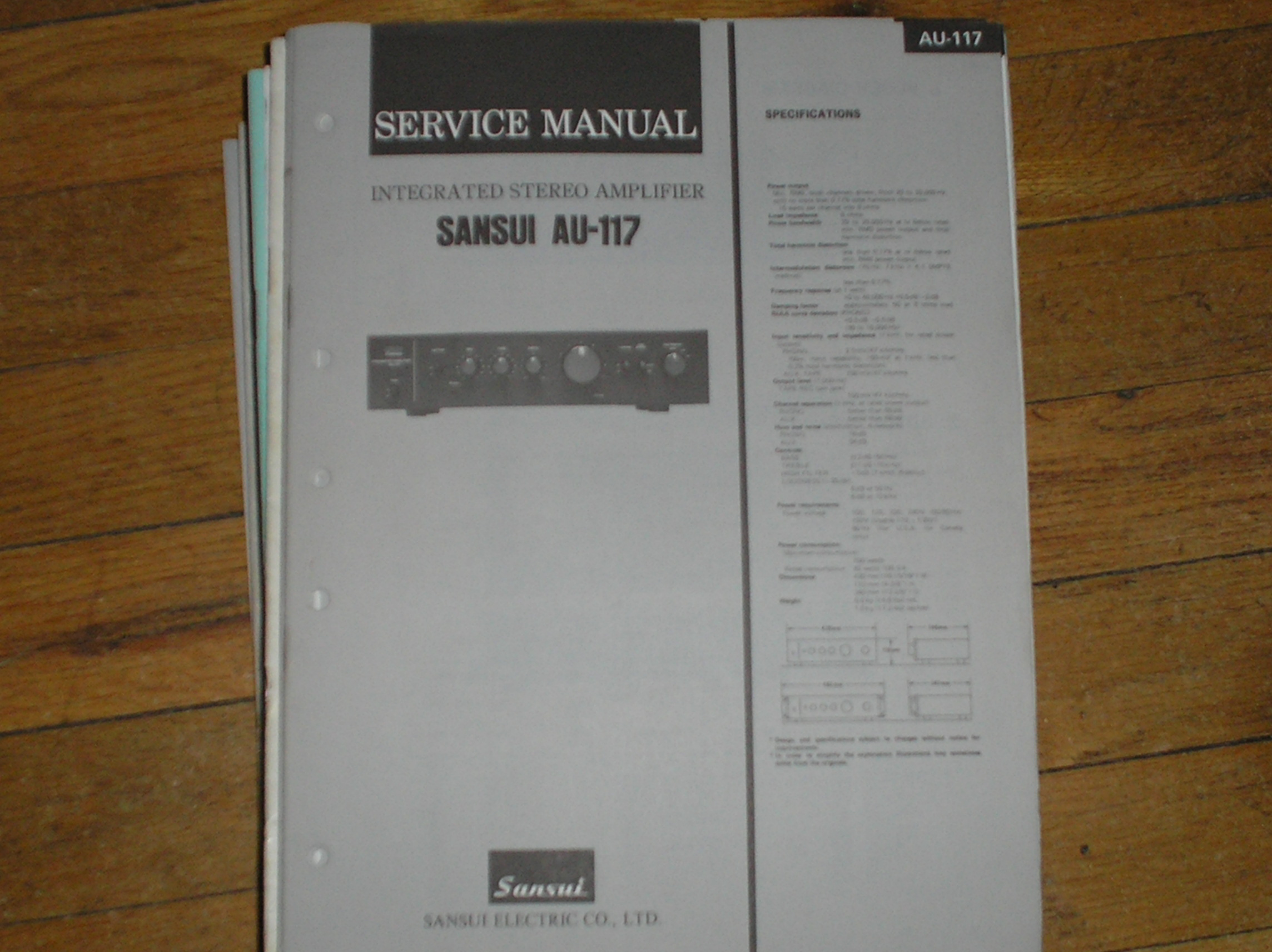AU-117 Amplifier Service Manual