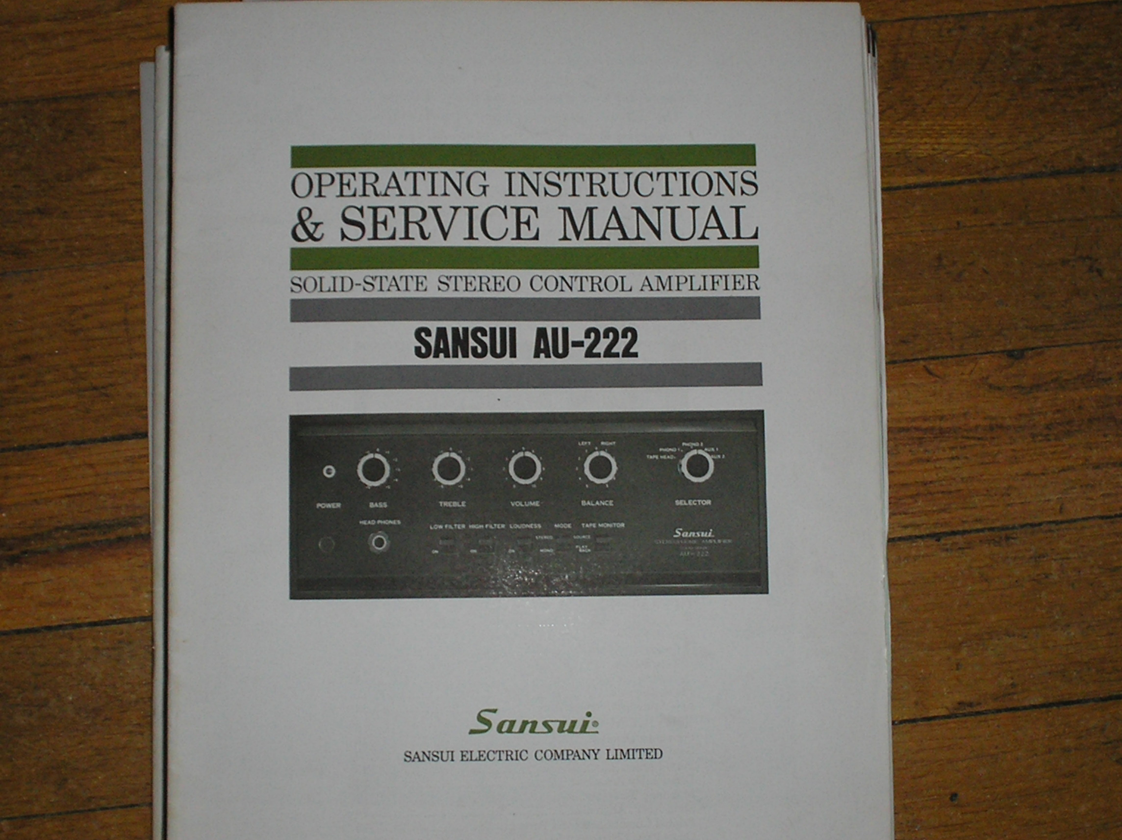 AU-222 Amplifier Operating Instruction Manual