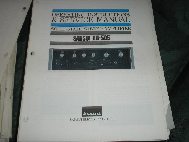 AU-505 Amplifier Operating and Service Instruction Manual