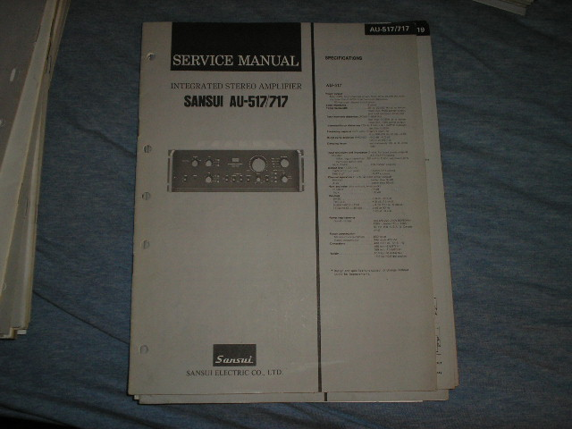 AU-517 AU-717 Amplifier Service Manual
