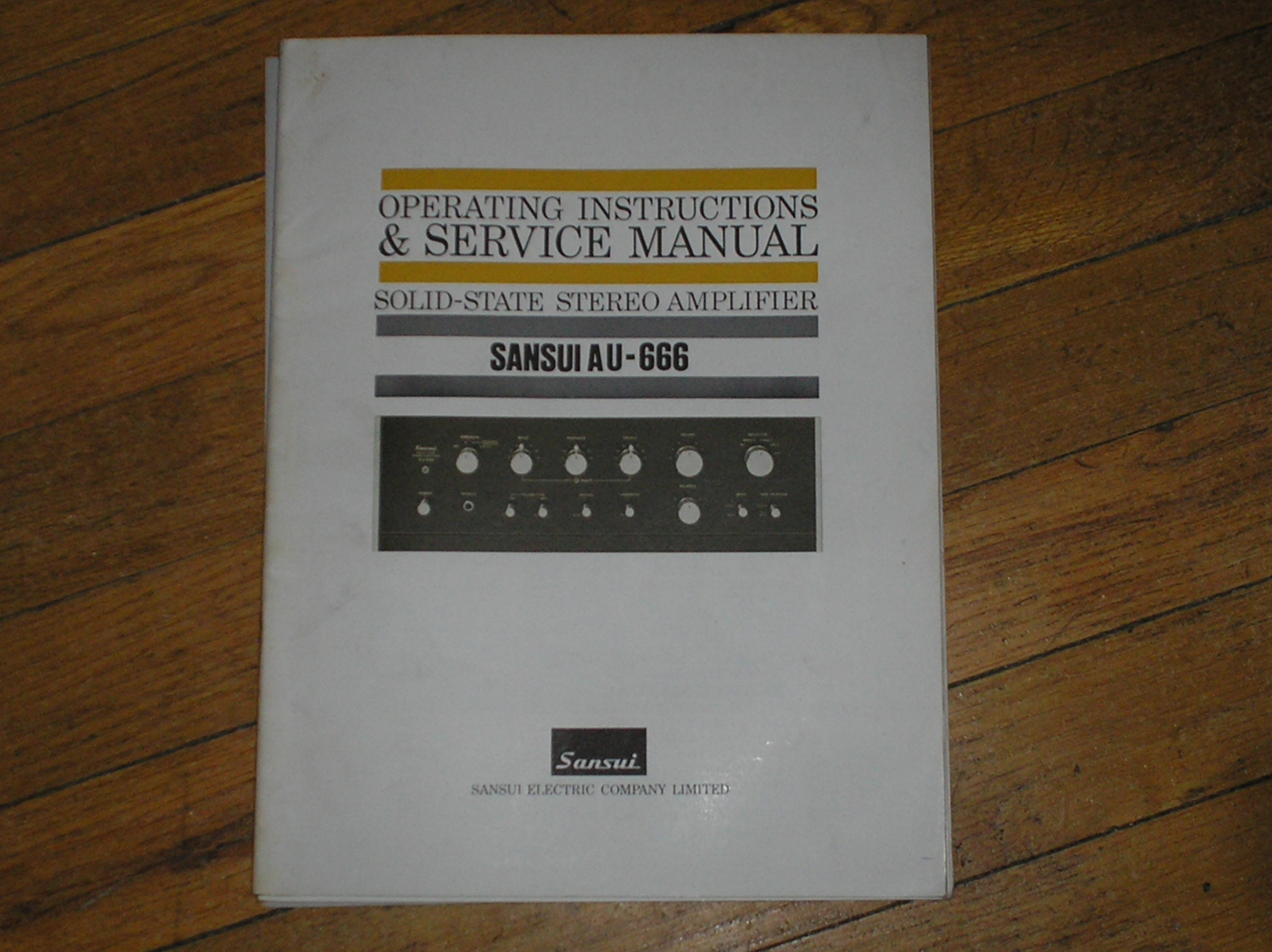 AU-666 Amplifier Operating Instruction Manual
