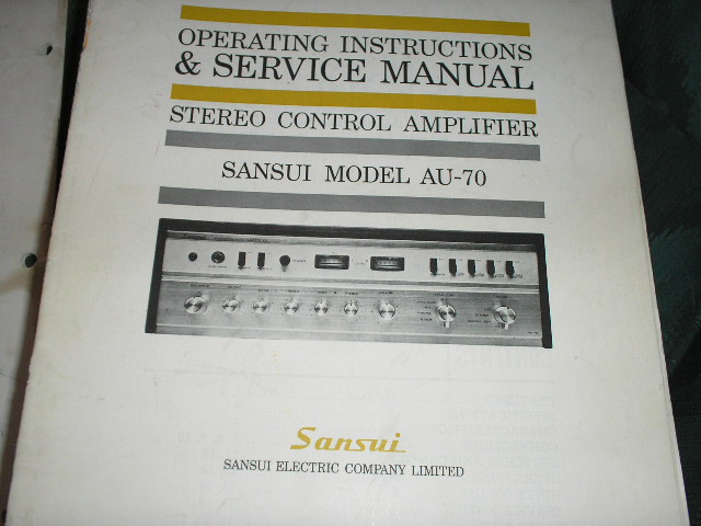 AU-70 Amplifier Operating Service Instruction Manual