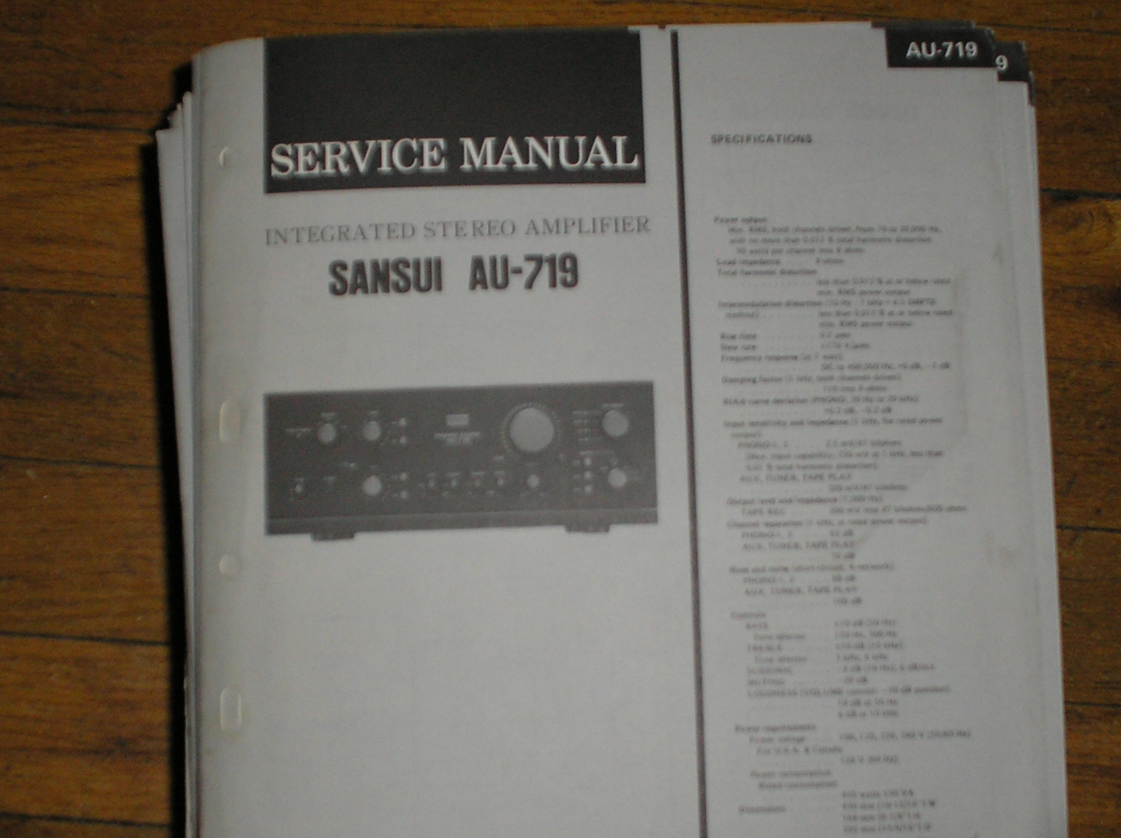 AU-719 Amplifier Service Manual