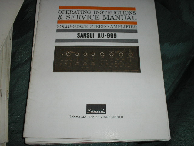AU-999 Amplifier Operating Instruction Manual