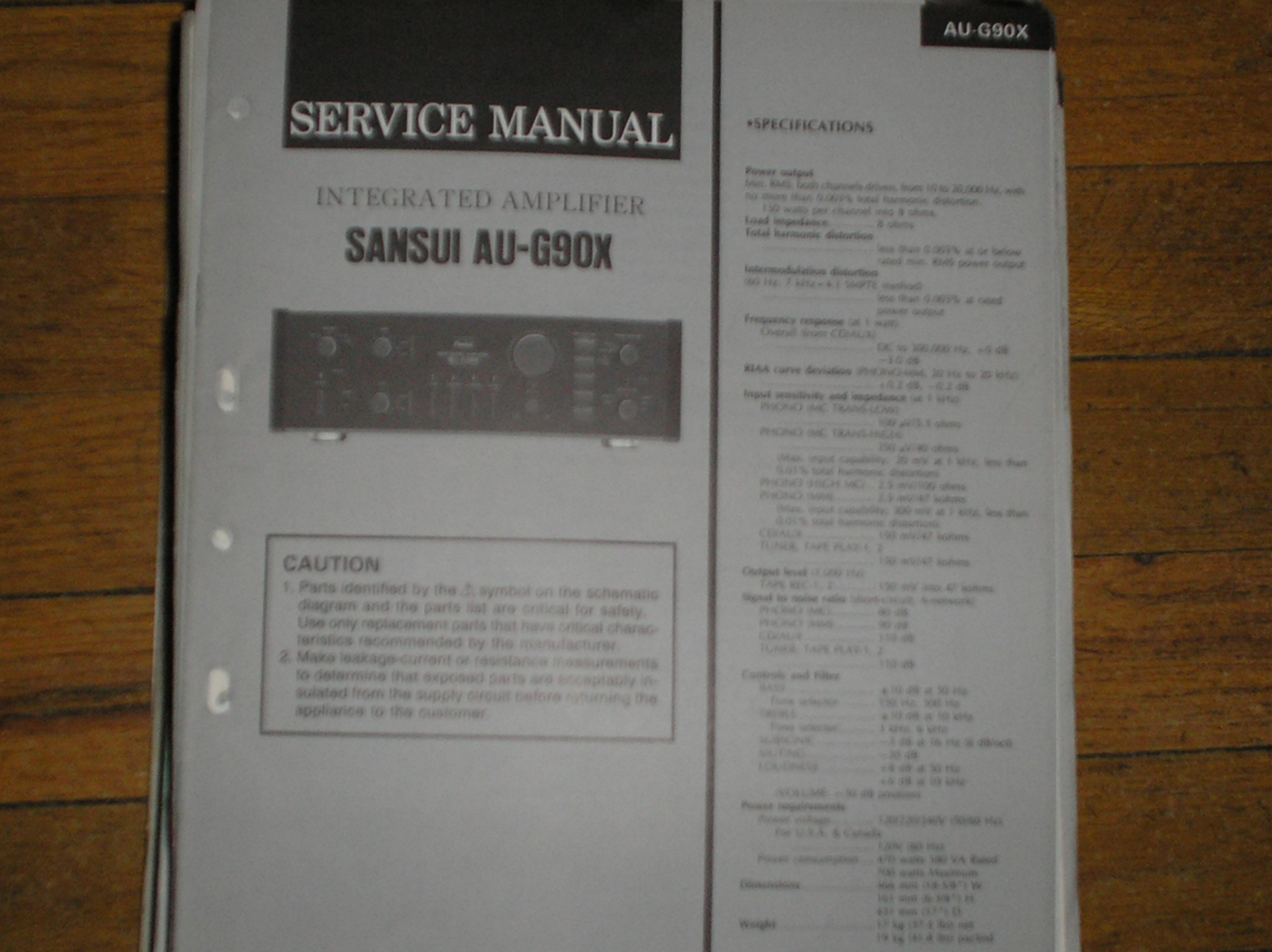 AU-G90X Amplifier Service Manual