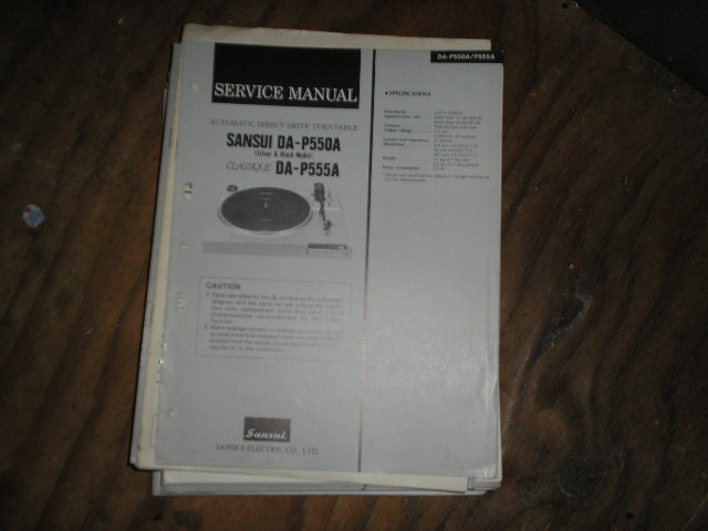DA-P550A DA-P555A Turntable Service Manual
