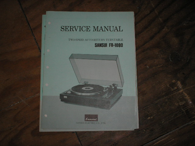FR-1080 Turntable Service Manual