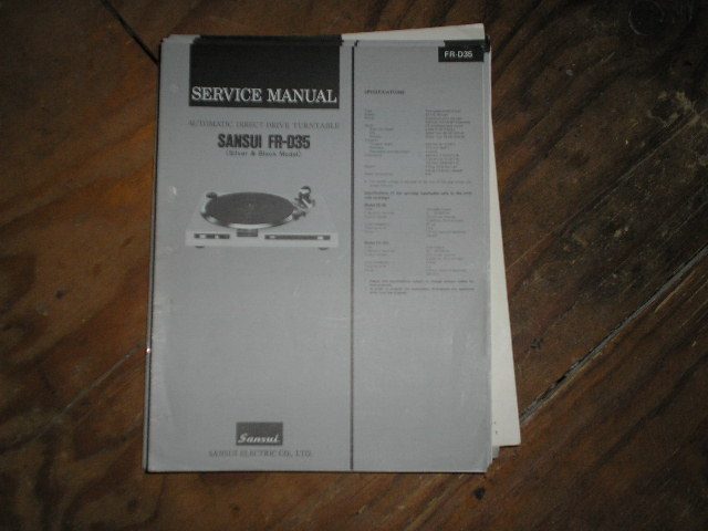 FR-D35 Turntable Service Manual
