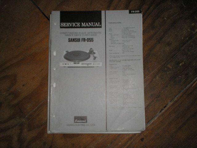 FR-D55 Turntable Service Manual