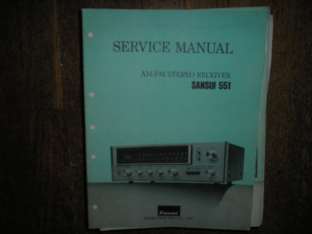 551 Receiver Service Manual