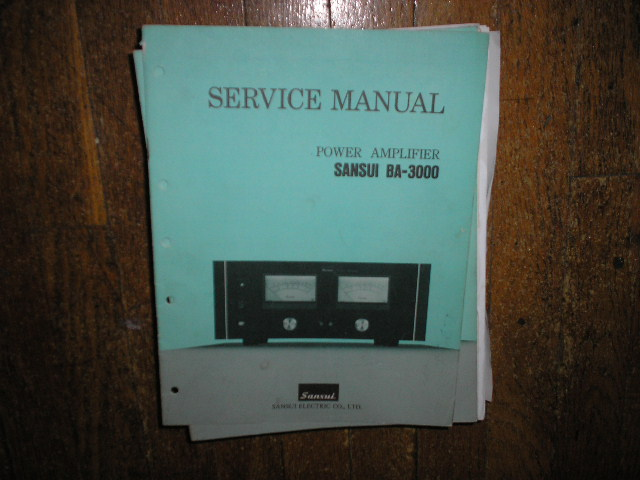 BA-3000 Power Amplifier Service Manual